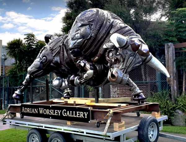 Artist Adrian Worsley's Bull